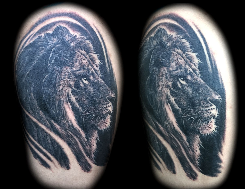 Lion Tattoo Portrait Joe Riley Best Las Vegas Tattoo Artists Shops