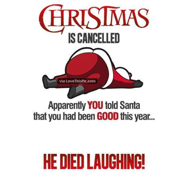 Christmas Is Cancelled Funny Quote | Spreuken
