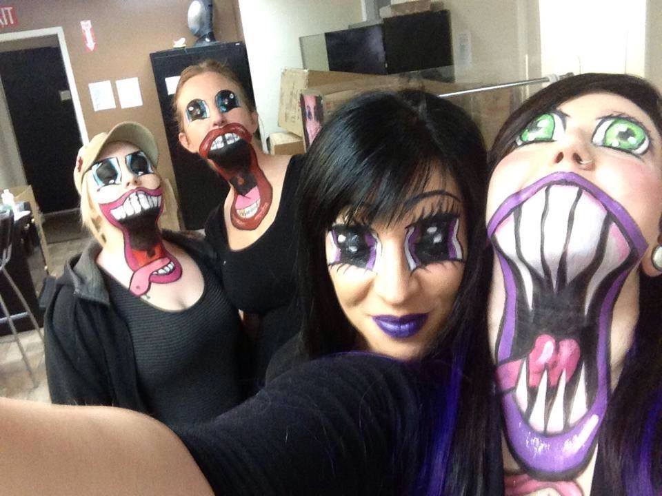 I need to try this Halloween Makeup Pinterest Sfx makeup and - cool halloween ideas