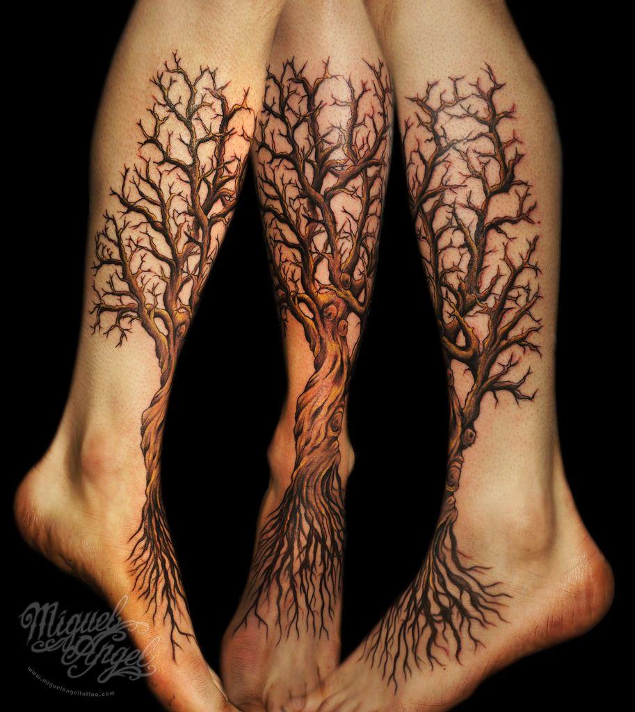 Custom Tree Tattoo Tree Tattoo Foot Tree Roots Tattoo Tree Tattoo Arm