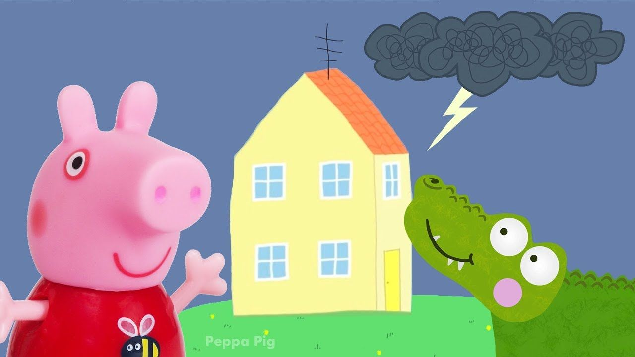 Peppa Pig Game Crocodile Hiding With Peppa Pig Toys In Kids Cereal
