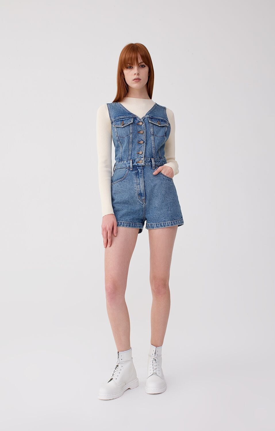 Super sweet and vintage-inspired, our Playsuit romper is an unexpected wardrobe essential.