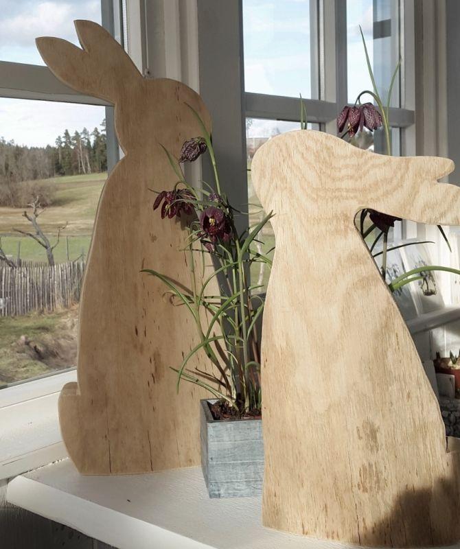 Holzkistchen Mit Hübsch Kleines Schwedenhaus Shabby Chic: Schöner Hase Aus Holz Osterdeko Kleines Schwedenhaus