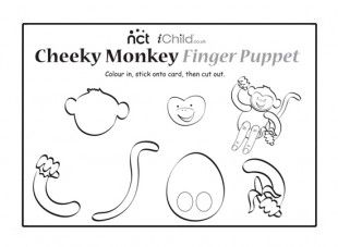 Here S A Monkey Finger Puppet To Use At Your Nct Cheeky Monkeys Tea Party