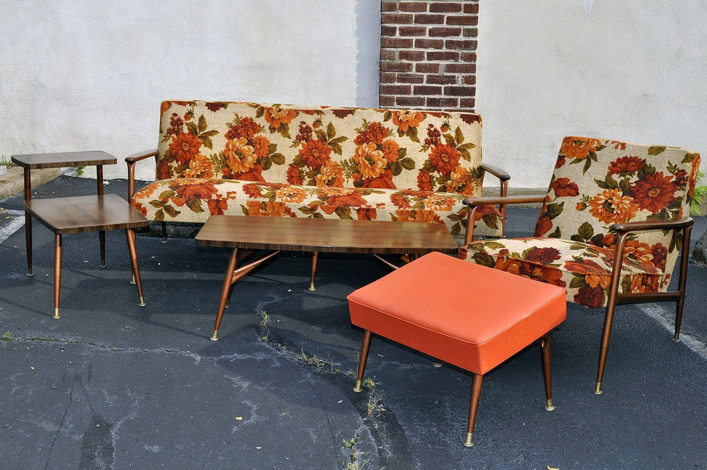 Best 60S Mid Century 5 Piece Viko Baumritter Living Room Group 640 x 480