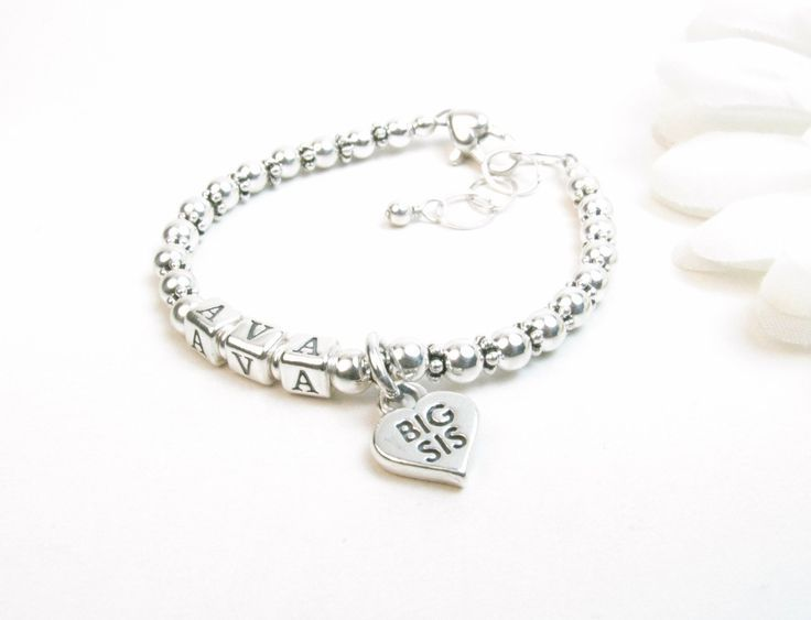Bracelets For Las Sister Name Bracelet Gift Jewelry New Silver