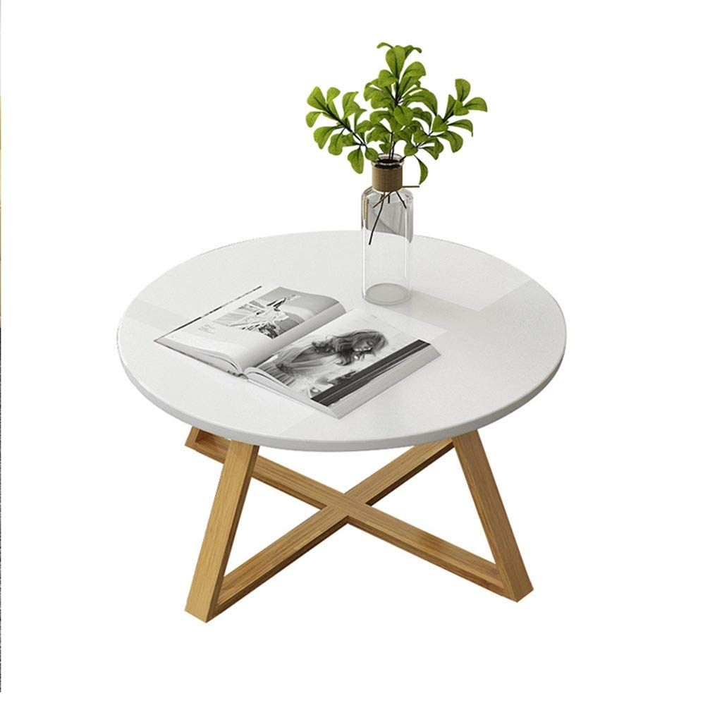 Nordic Style Coffee Table Wooden Round Sofa Table Household Side