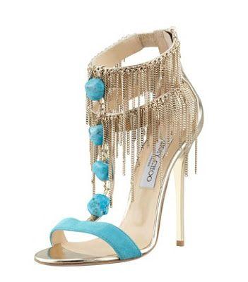 Jimmy Choo Belle Chain-Fringe Sandals