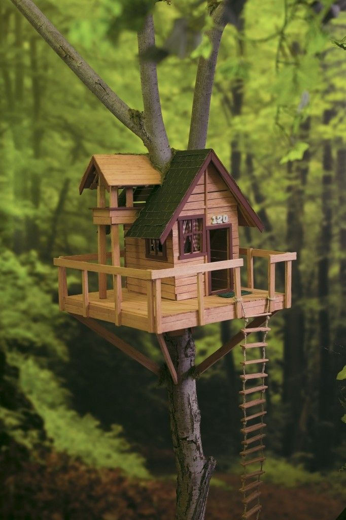 Miniature Tree House mini treehouse builtthe byu universe design team for use in