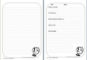 Travel journal pages to print for free (for older kids) in