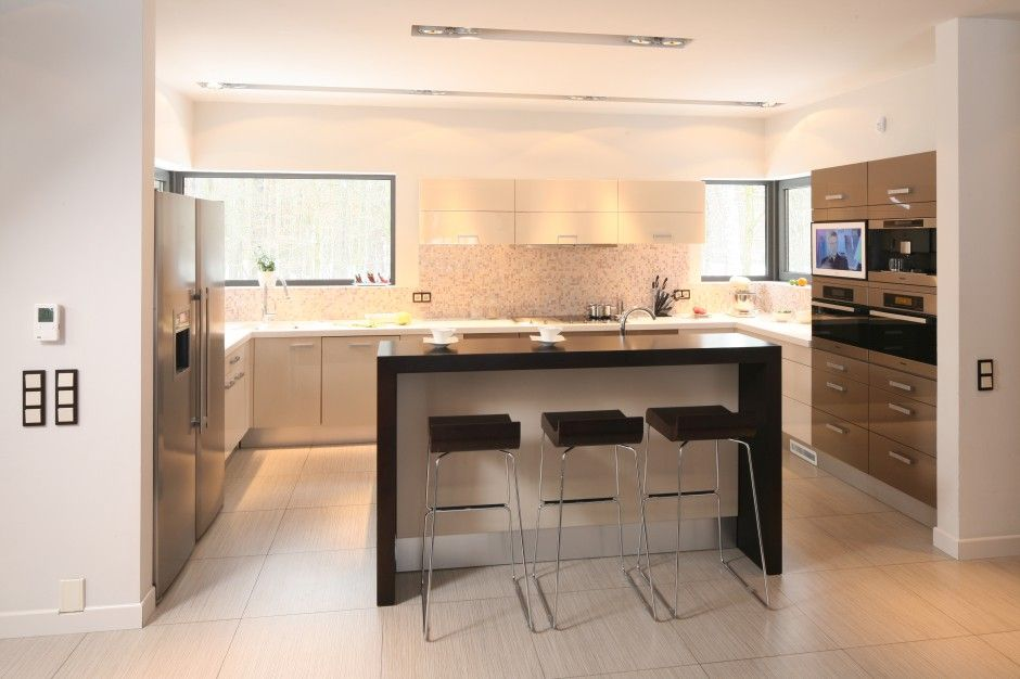 Image Result For Kuchnia Z Barkiem I Salonem Kitchen Sweet Home Home Decor