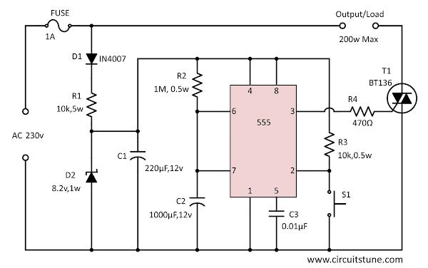 Auto Power Off Circuit Circuit Diagram Electronic Schematics Diagram