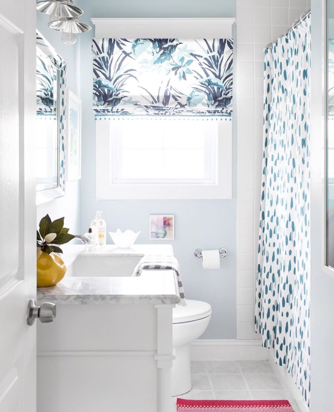 Love this custom design shade! | Bathroom renovation ...