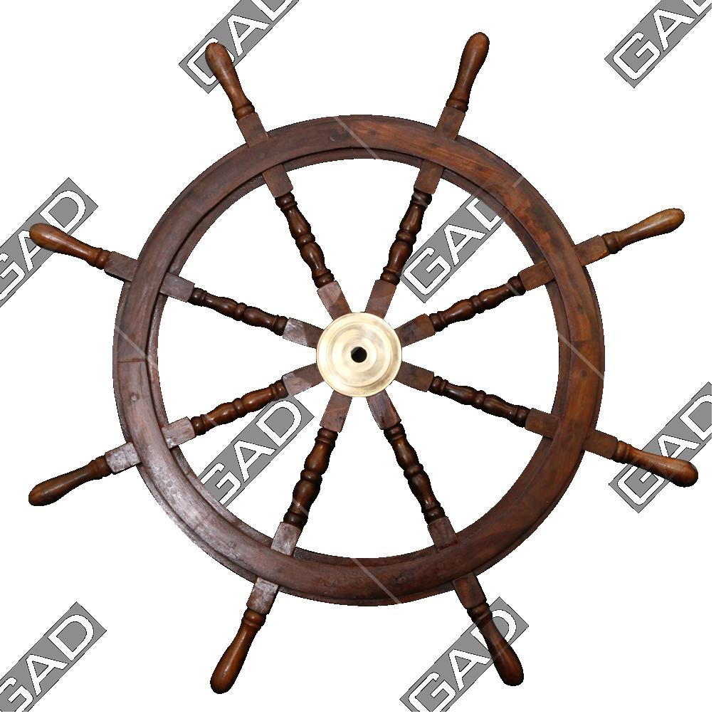 NAUTICAL SHIP WHEEL Reminiscent of a rare unique piece of