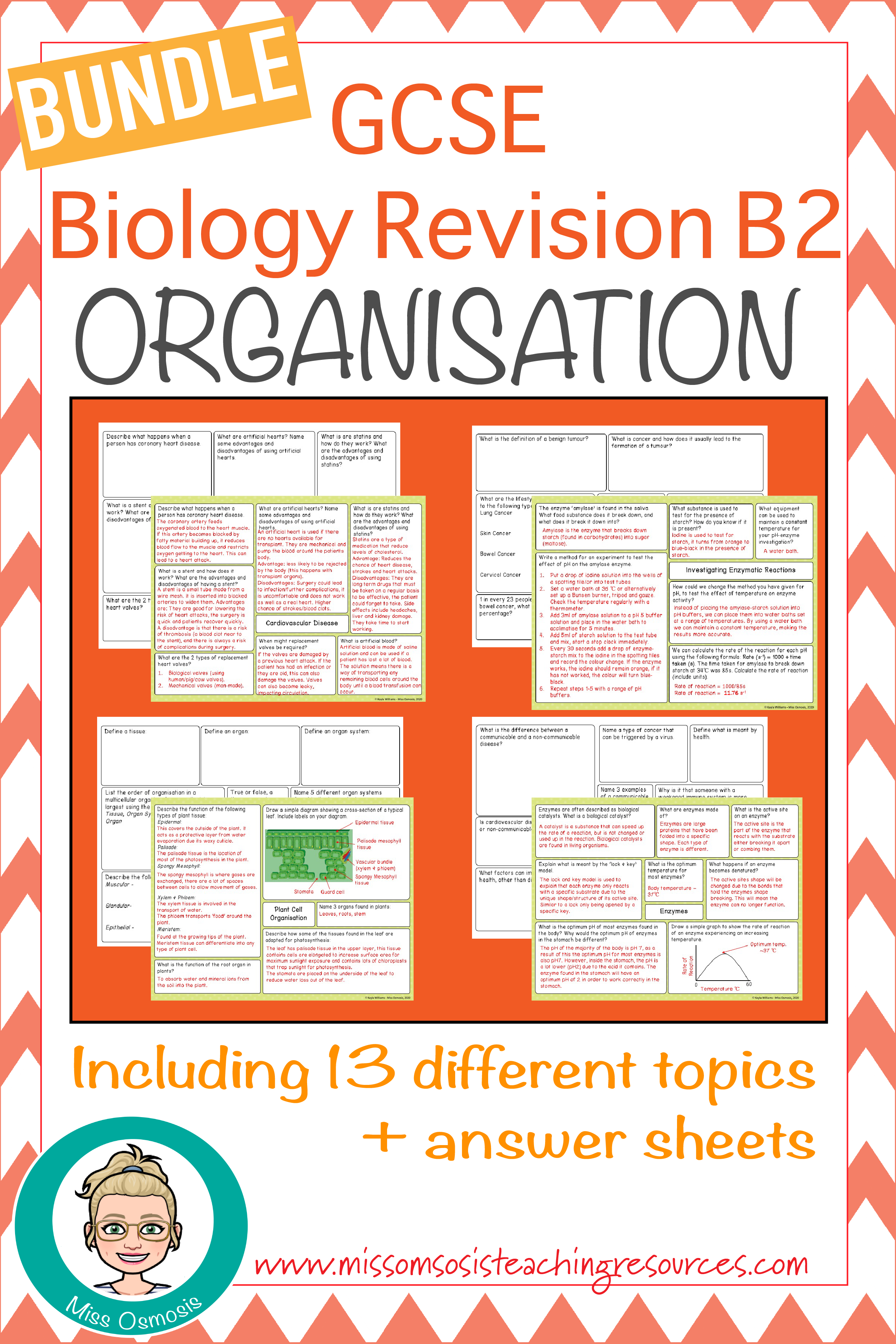 Gcse Biology B2 Whole Topic Revision Mind Maps