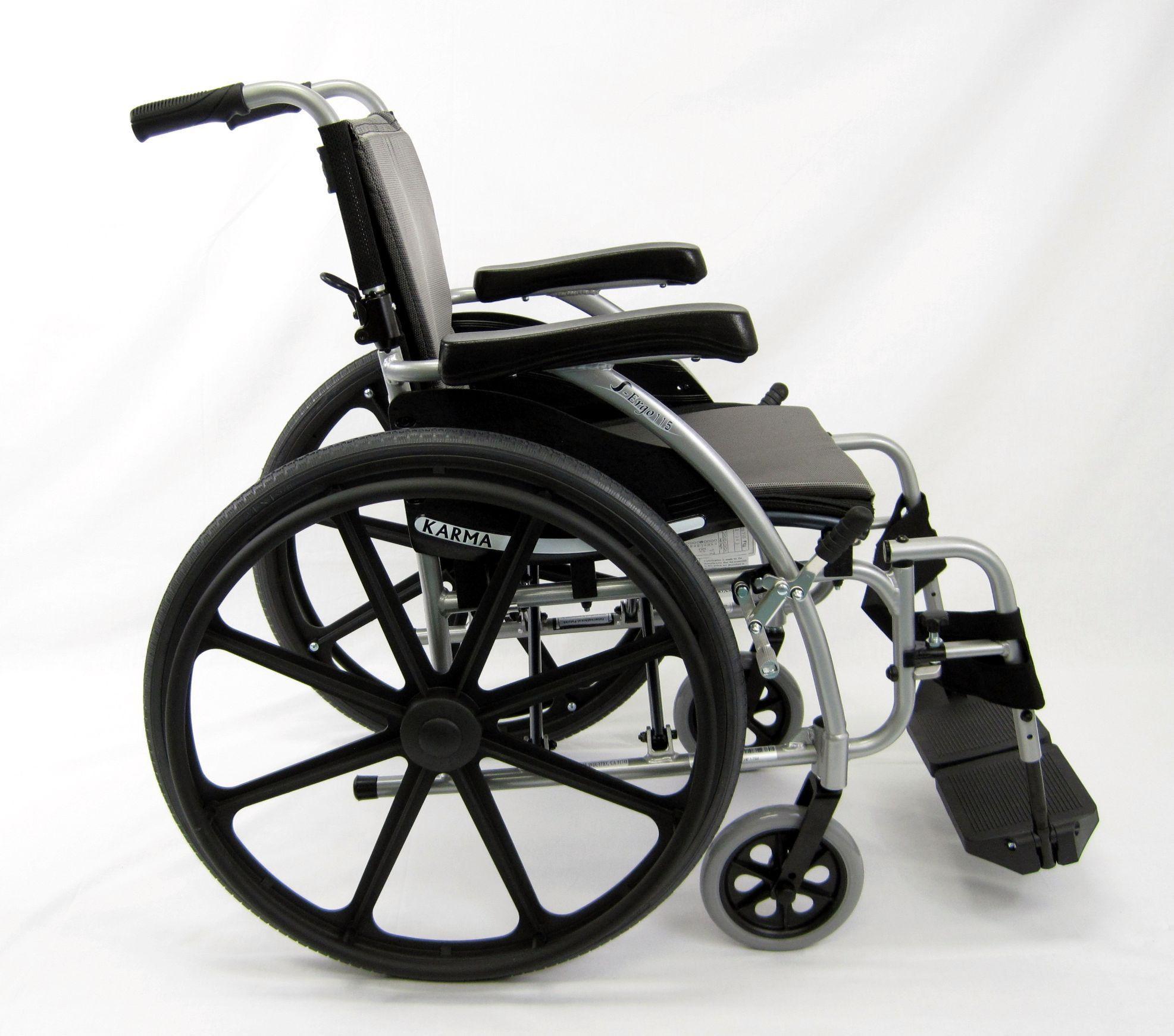 Ergonomic LtWt Wheelchair Silver SERGO115F18SMG