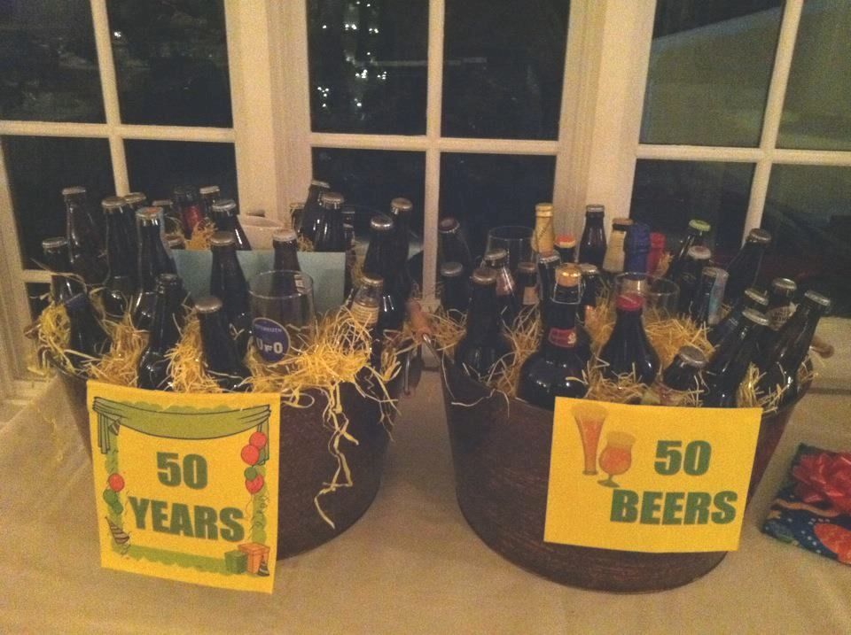 50th birthday idea ~ 50 years, 50 beers! (With images) | 50th ...