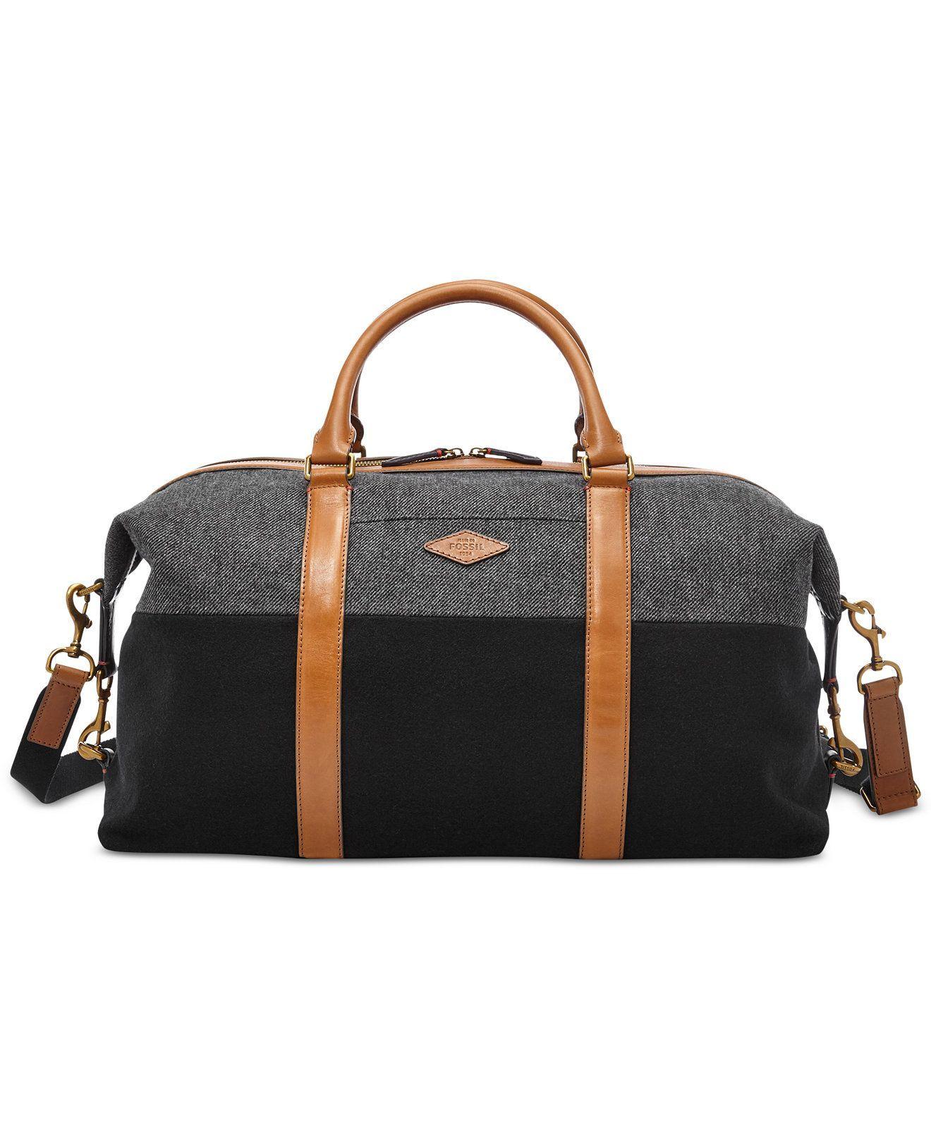 0e050b349f Fossil Campbell Weekender - Bags   Backpacks - Men - Macy s  mensweekendbag
