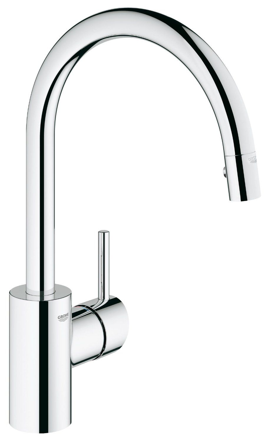 194 Grohe 32665001 Concetto Single Handle Pull Down Spray Kitchen