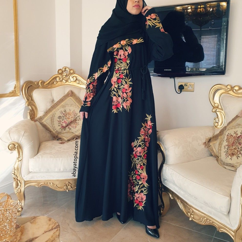 Dubai Abaya Kaftan Jilabiya  Muslim Women Maxi Dress Flare Umbrella Style Plum