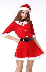 191991a8242 2016 Hot Hooded Santa Costumes Cosplay Lovely Xmas Dress up Clothes Sexy  Night Party Outfit Christmas Costume Dress Women Red