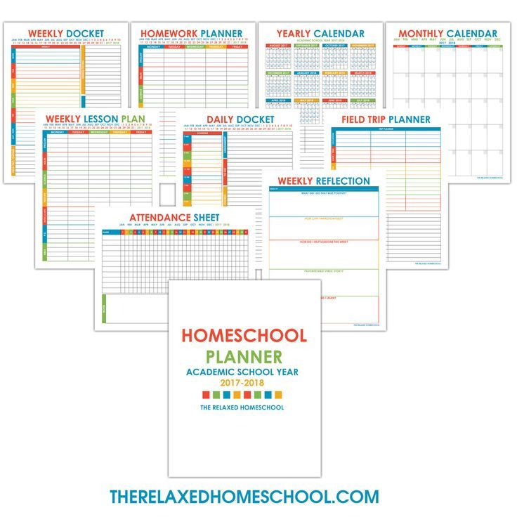 Free homeschool planner that will keep your homeschool organized - free lesson plan format