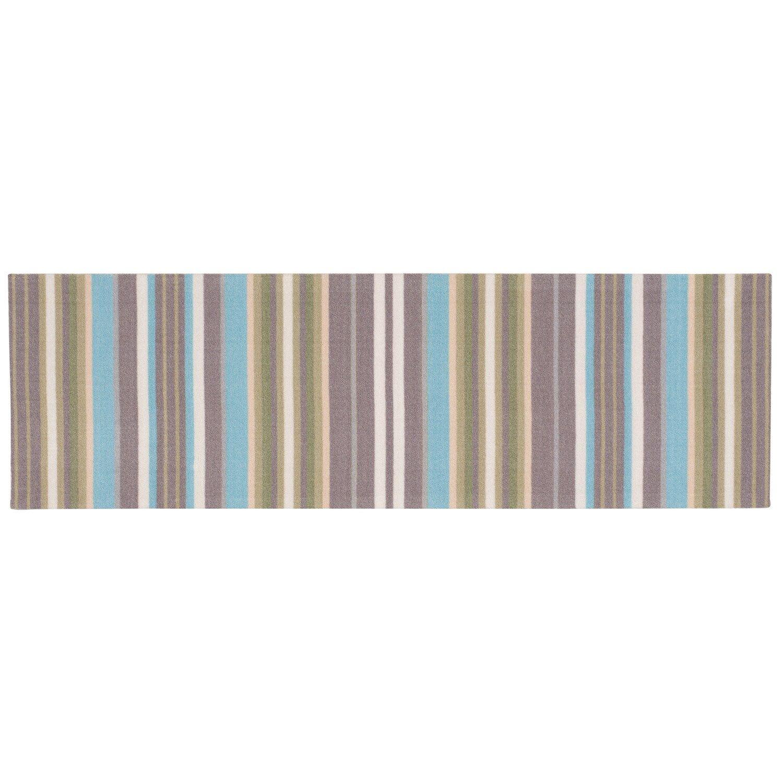 Waverly Sun N Shade Paddock Shawl Striped Indoor Outdoor Rug