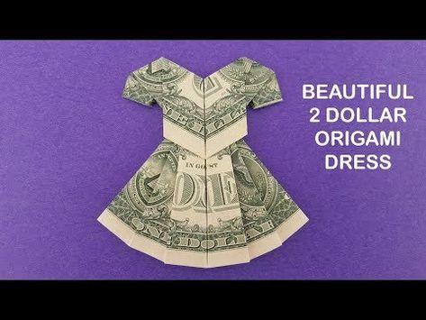 "Photo of DOLLAR ORIGAMI DRESS ""Tutorial"""