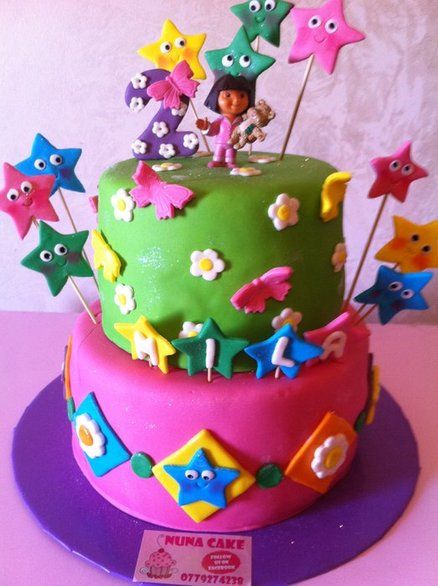 Dora cake Girl's Birthday cakes كيكة دورا - by nuna cake @ CakesDecor.com - cake decorating website