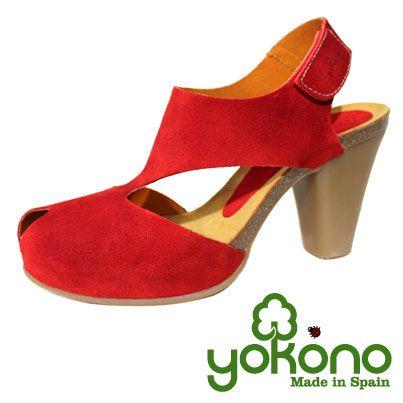 Sandalia color rojo colección ARUBA