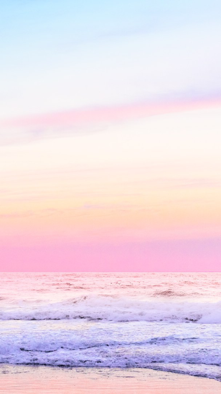 Pink Skies With An Beach View In 2019 Pink Wallpaper