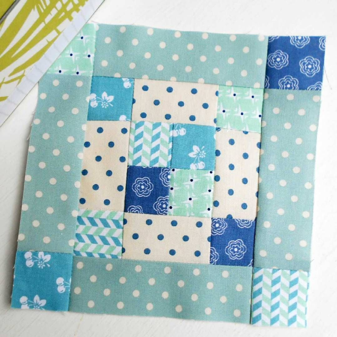 "The Splendid Sampler Block no. 57 - Starting Point.  A lovely 6"" patchwork block designed by Modalissa."