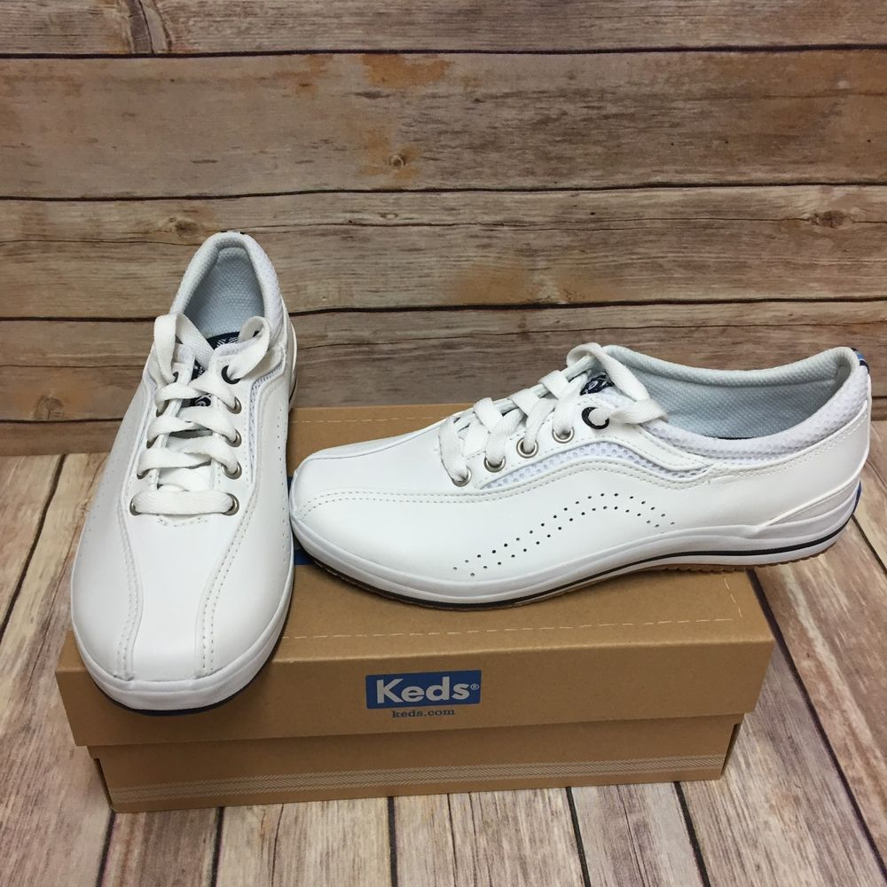7105956fe29b New Keds Spirit Ubal Womens Size 6 White Sneakers Shoes Leather Micro  Stretch  Keds  Comfort
