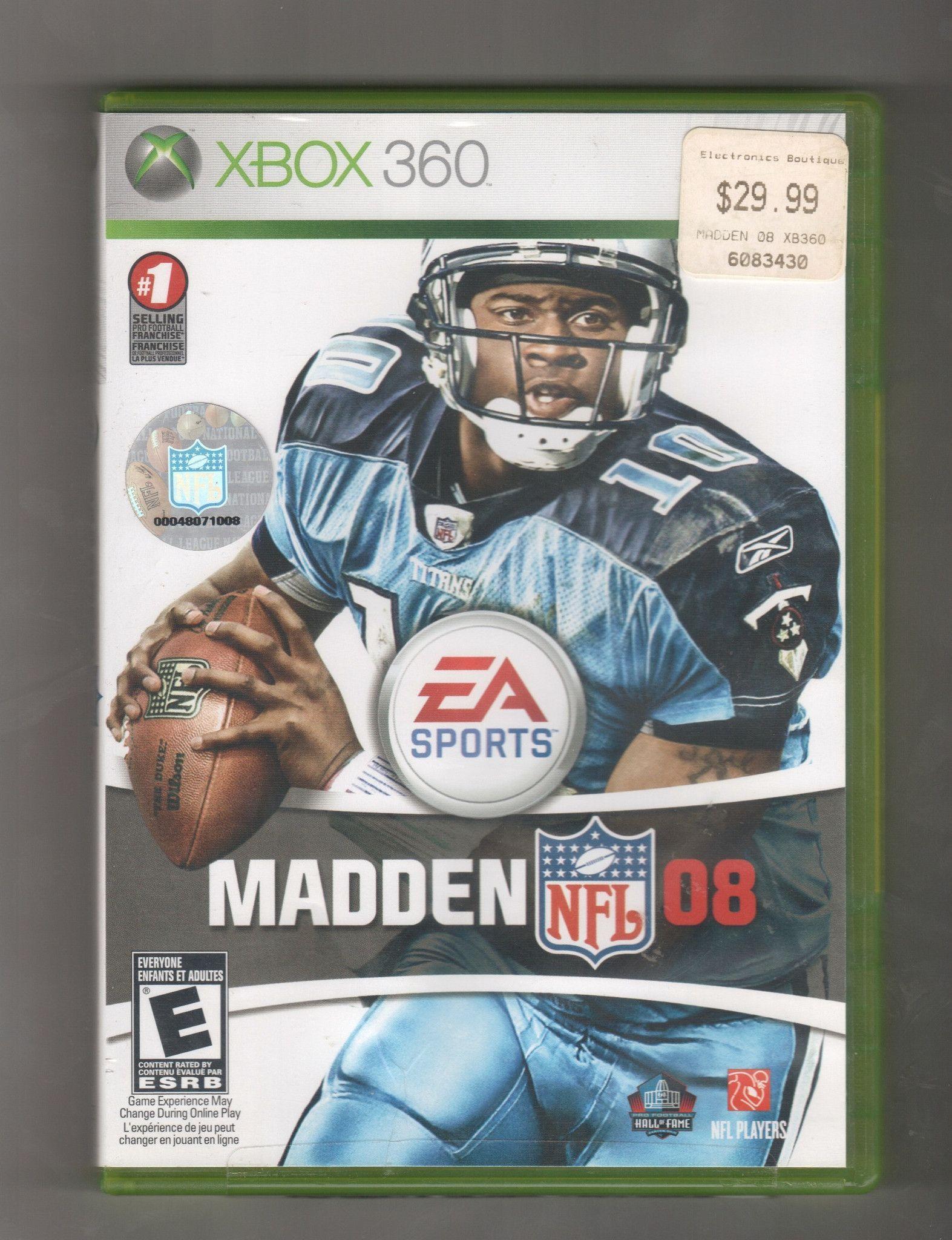 Madden NFL 08, Game XBOX 360, Vintage Games, Antique