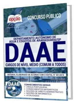 Garanta Ja Sua Apostila Concurso Daae Araraquara Apostilas Para