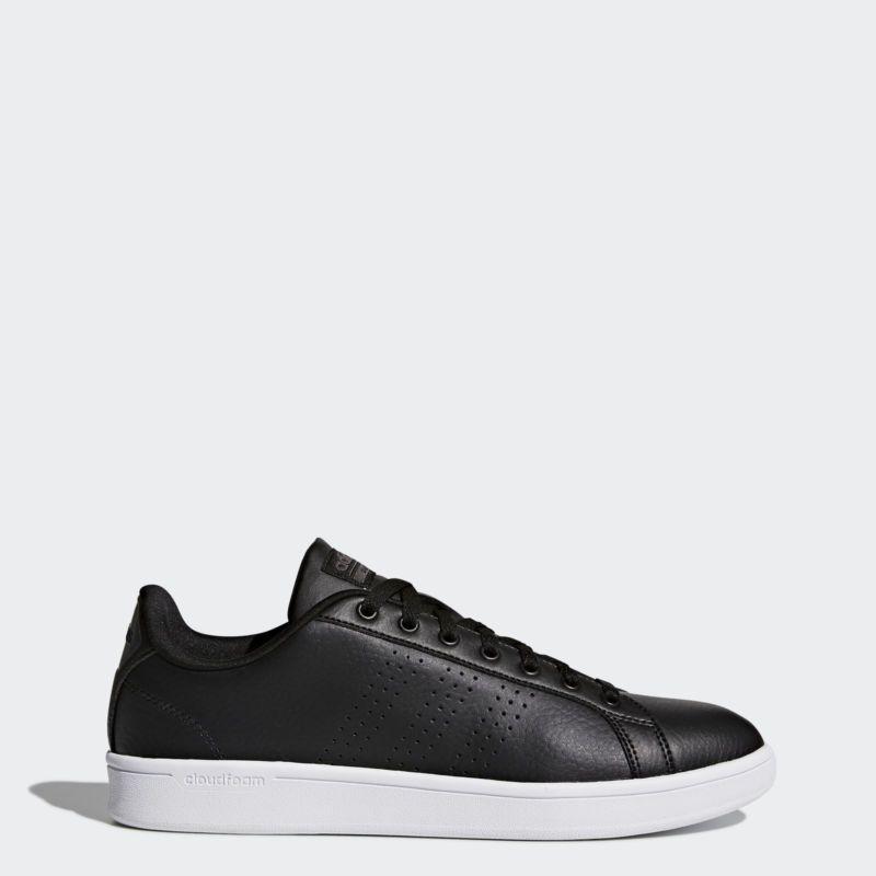 adidas cloudfoam vantaggio le scarpe pulite uomini neri sentire meglio
