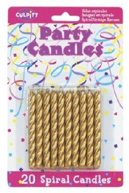 20 Pkg Culpitt Gold Spiral Cake Decorating Candles Check Out The Image By Visiting