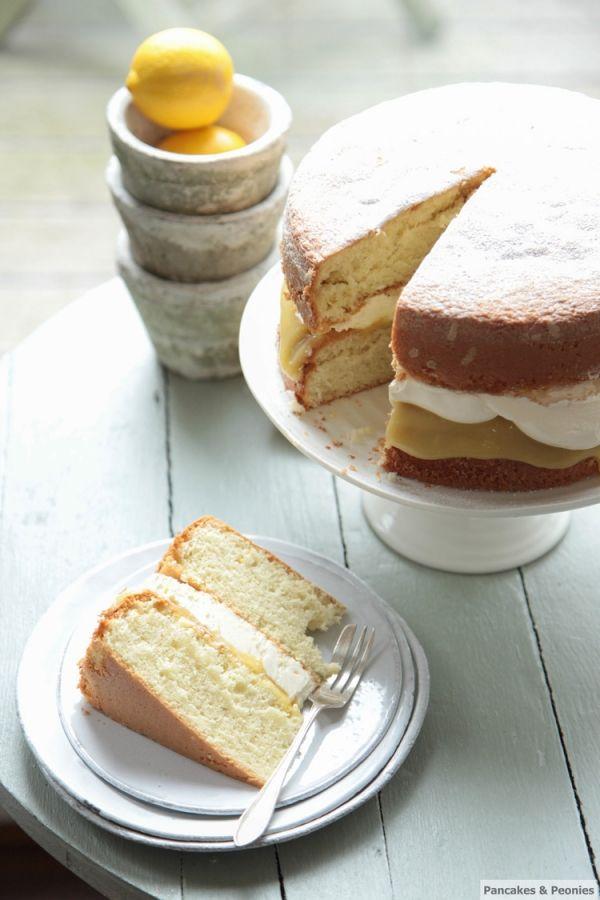 LIGHT LEMON CURD CAKE Recipe Serves 12 Genoise Sponge by Jamie