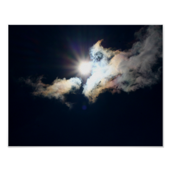 Noontime Breakthrough Photo Poster by KJacksonPhotography --  Taken 04.06.2014 The brilliant noontime sun casting its colorful rays upon the clouds moving in front it. PC:157.185 #nature #maine #noontime #breakthrough #sun #poster #posters