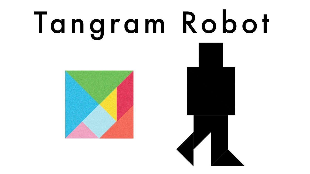 make this tangram robot  download a free tangram puzzle