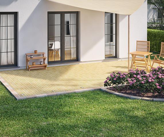 Beeteinfassung Terrassenumrandung Setzen Obi Gartenplaner