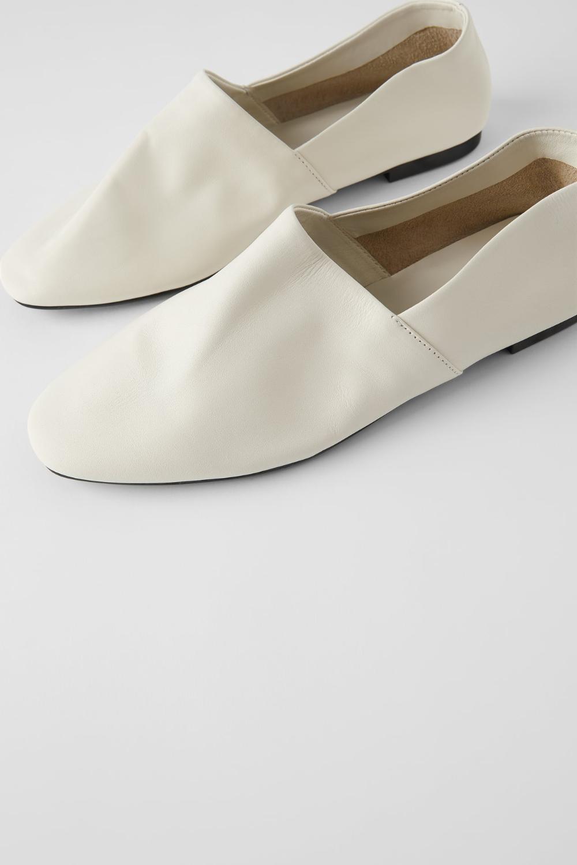 Miekkie Skorzane Balerinki Zara Polska Poland Leather Ballet Flats Soft Leather Shoes
