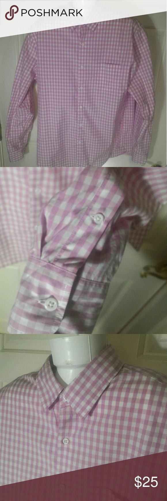 Casual pink dress shirt  JCrew Pink Button Down Casual Dress Shirt Size L in