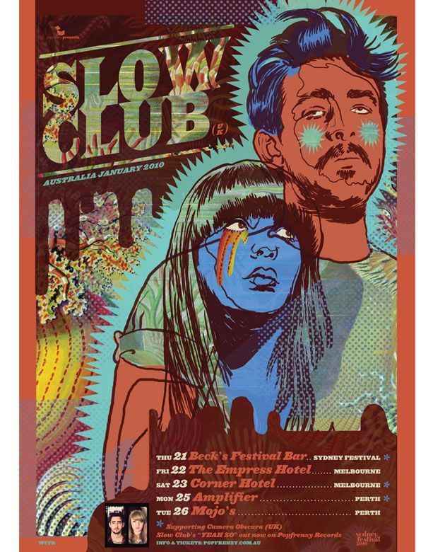 Slow Club  Tour Poster