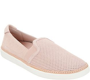 d54625629aed Vionic Perforated Suede Slip-Ons - Malina in 2019