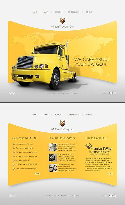 Template 36874 - Trucking Company Fullscreen Flash Website ...