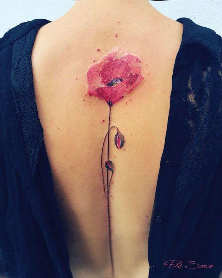 Les Superbes Tatouages Floraux De Pis Saro Image Tatouage