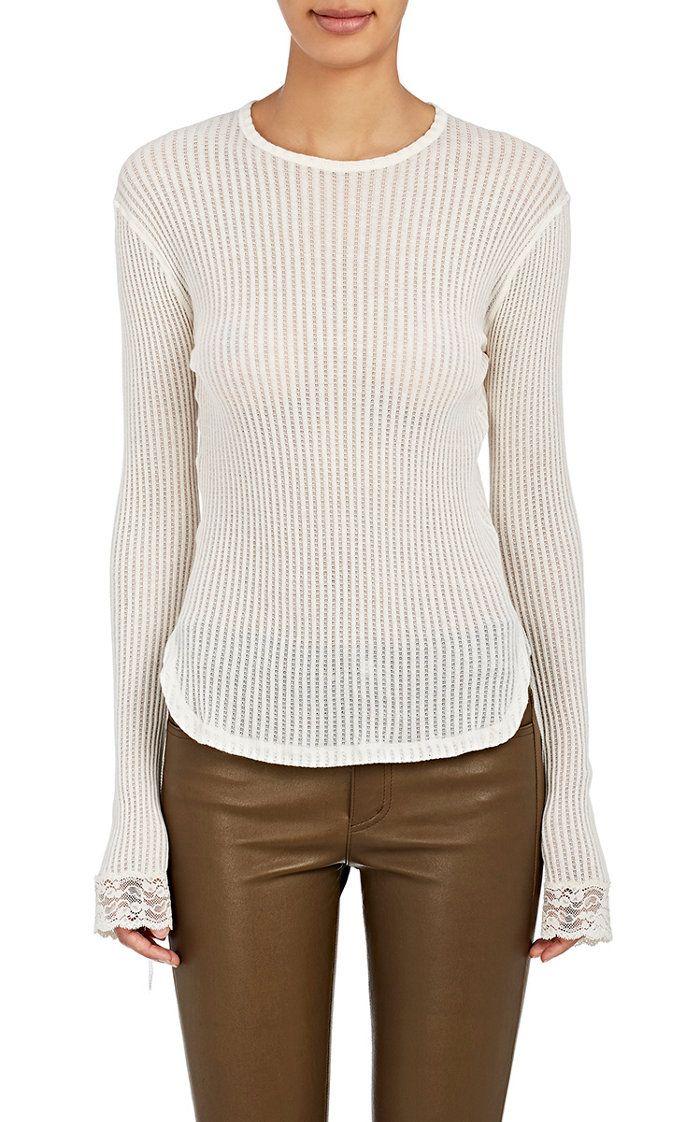 d68b819510930 Helmut Lang Cotton Mixed-Stitch Shirt