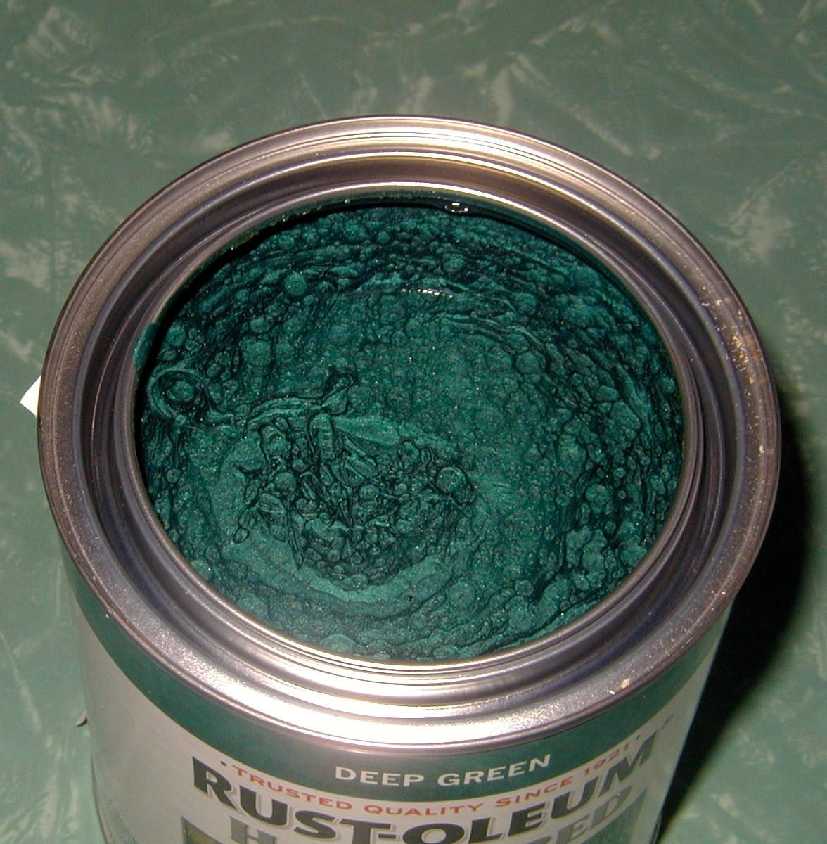 This Is A Brand New 1 Quart Can Of Dark Green Hammered Metal