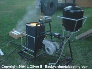 Backyard Furnace Melt Iron As Easily As Most